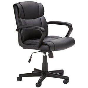 2. AmazonBasics Black Mid-Back Office Chair