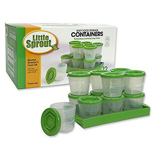 7. Sprout Cups Baby Food Containers (Set of 12 – 2oz)