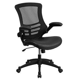 4. Flash Furniture Mid-Back Black Chair