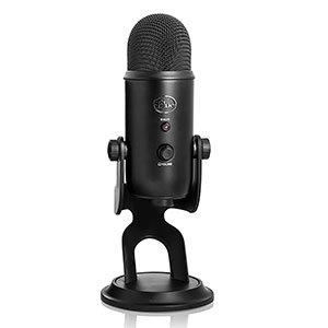 1. Blue Yeti USB Microphone (Blackout Edition)