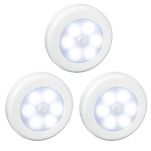 2. AMIR Motion Sensor Light (White – Pack of 3)