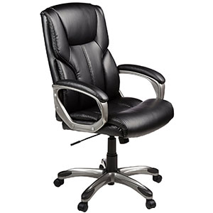 1. AmazonBasics Black High-Back Executive Chair