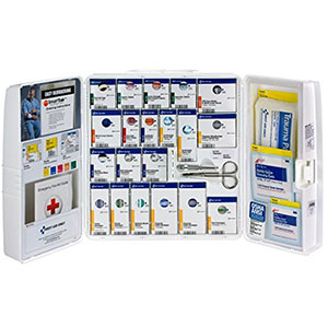 8. First Aid Only 50 Person First Aid Plastic Cabinet