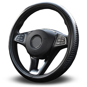 3. Vitodeco Genuine Leather Steering Wheel Cover