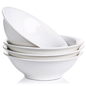 3. Lifver 28-Oz Natural White Porcelain Cereal Bowl (Set of 4)