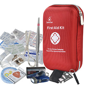 7. DeftGet First Aid Kit Waterproof Portable First Aid Kit (163 Piece)