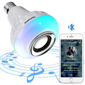 3. Texsens LED Bulb with Integrated Bluetooth Speaker