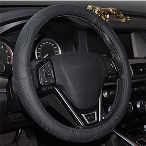 5. Rueesh Genuine Leather Steering Wheel Cover