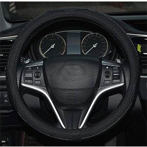7. Rueesh Microfiber Leather Steering Wheel Cover