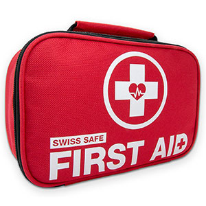 1. Swiss Safe 2-in-1 First Aid Kit (120 Piece)