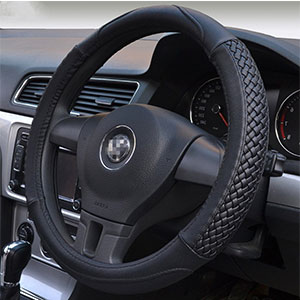 8. Moyishi Top Leather Steering Wheel Cover