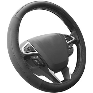 1. SEG Direct Leather Steering Wheel Cover