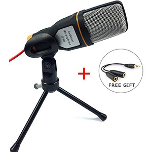 7. SunJet Condenser Microphone with Tripod Stand