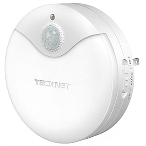 9. TECKNET Plug In LED Night Light Lamp