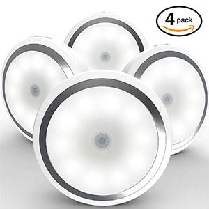 8. Magictec Cordless Motion Sensor Light (4 Pack)
