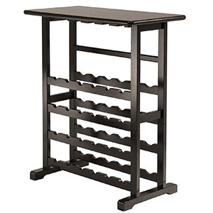 3. Winsome Wood Wine Rack with Glass Hanger (24 Bottle)