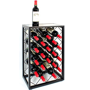 2. Mango Steam Black 23 Bottle Wine Rack