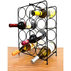 6. Superiore Livello Napoli 12 Bottle Standing Wine Rack