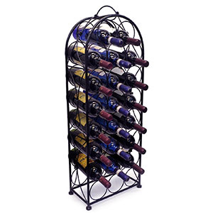 1. Sorbus Black Wine Rack Stand (Bordeaux Chateau Style)