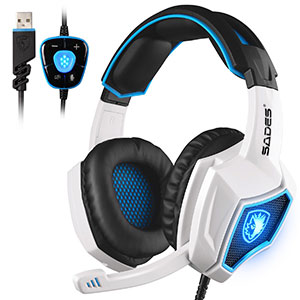 4. Sades Spirit Wolf 7.1 Surround Sound Gaming Headset