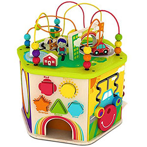 4. My First Learning Bead Maze Cube Activity Center