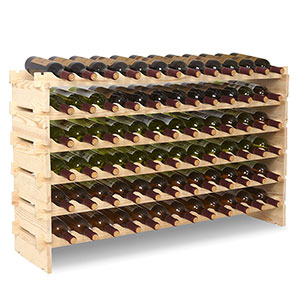 8. mecor 6 Tier Freestanding Wine Rack (72 Bottles)
