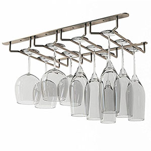 8. Wallniture Stemware Wine Glass Rack Holder