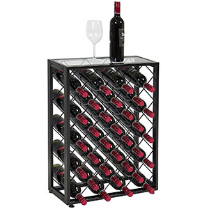 7. BCP 32 Bottle Wine Rack W/Glass Table Top