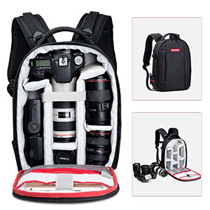 5. Beschoi Waterproof Camera Backpack