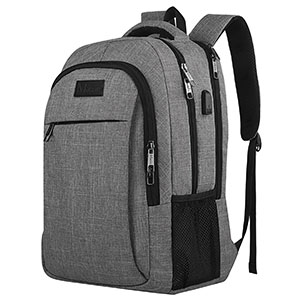 1. MATEIN Grey Travel Laptop Backpack