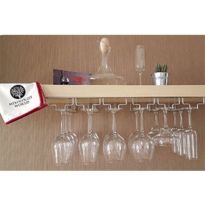 9. Mixologist World Wine Glass Rack
