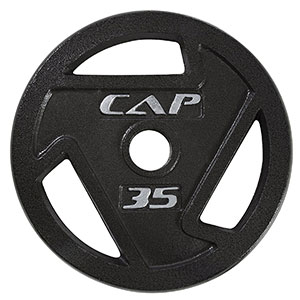 1. CAP Barbell 2-Inch Olympic Grip Plate