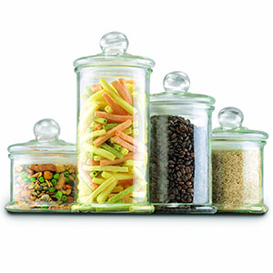 9. Anchor Hocking Apothecary Jar Canister Set (4-Piece Set)