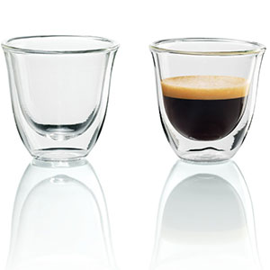 3. DeLonghi Set of 2 Espresso Glasses
