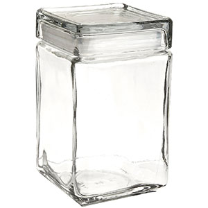 10. Anchor Hocking 85588R Glass Jar (Case of 4)