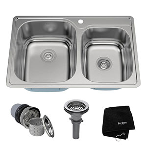 8. Kraus KTM32 Double Bowl Kitchen Sink