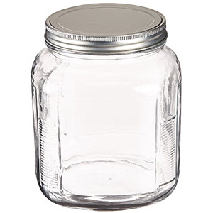 8. Anchor Hocking Set of 4 Cracker Jar (2-Quart)