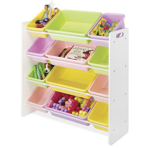 10. Whitmor Kid's Toy Storage (Pastel Colors)