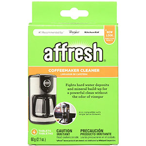 7. Affresh W10511280 Coffeemaker Cleaner (4 Tablets)