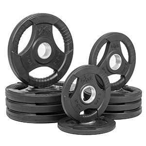 4. XMark Fitness Tri-grip Olympic Plate Weights