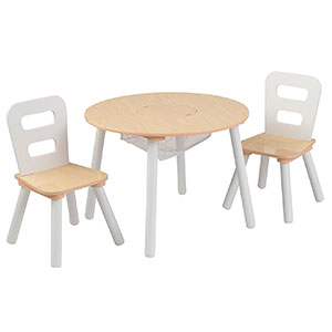 7. KidKraft Set of Round Table and Chairs