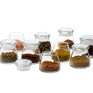 4. Libbey Mini Glass Jar Set with Lids (12-Piece)