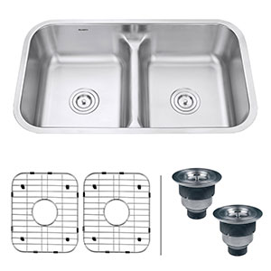 5. Ruvati RVM4350 Double Bowl Kitchen Sink