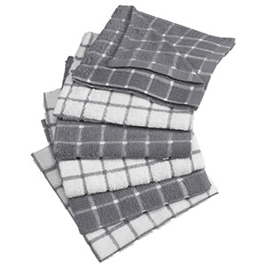 2. DII Windowpane Cotton Terry Dish Cloths