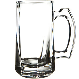 7. Libbey 12 Oz Stein Beer Glass (Set of 4)