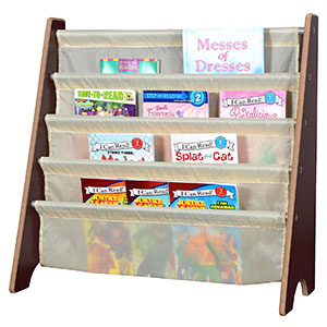 2. Naomi Home Kids Toy Sling Book Rack