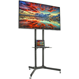 1. VIVO TV Cart Stand with Wheels