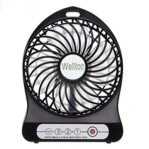 8. Electric Mini Portable fan by Welltop