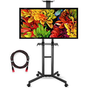 4. Suptek ML5073 TV Cart and Stand Mount With Wheels