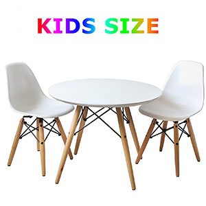 8. Buschman Retro Set of Table and Chairs for Kids
